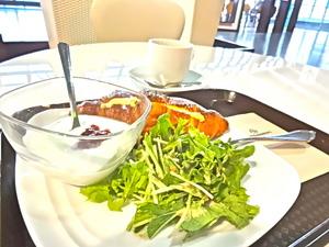 ベジカフェの朝食セット600yen.JPG